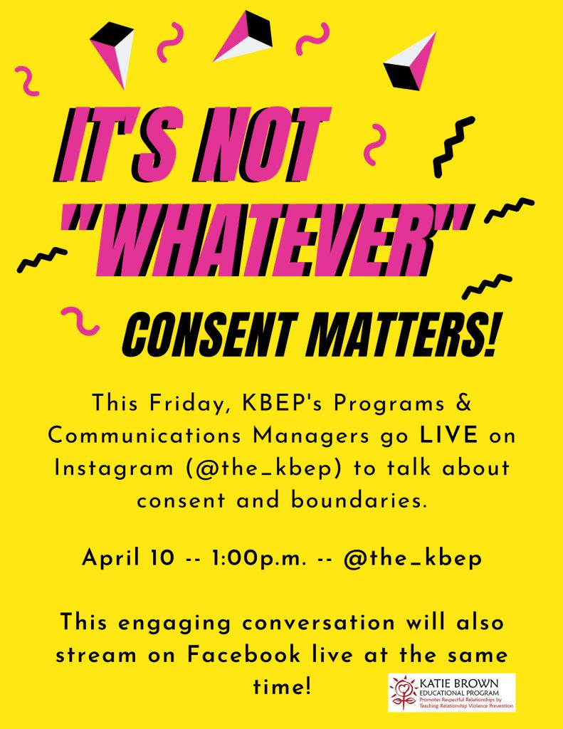 Join us for a conversations on consent this Friday on Instagram!