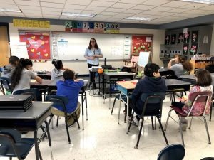 KBEP Educator discusses responsibility with 4th grade students.